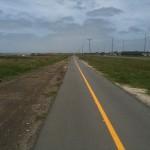 Juhui, ein Radweg führt aus Mar del Plata